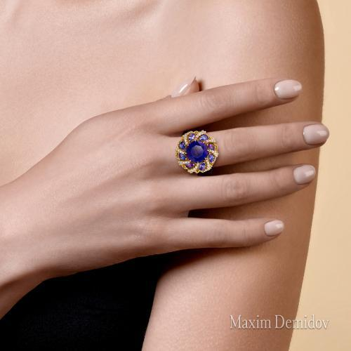 "Кольцо ""Матано"" Золото 750 желтое Танзанит"
