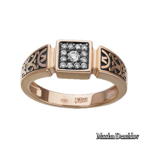 Кольцо 2009286 Золото 585 красное Бриллиант