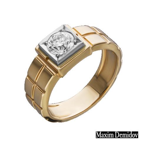 """Кольцо """"Камелот"""" Золото 585 красно-белое Бриллиант"""