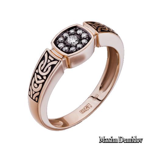 Кольцо 2001524 Золото 585 красное Бриллиант