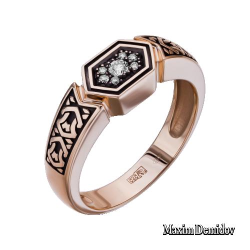 Кольцо 2001532 Золото 585 красное Бриллиант